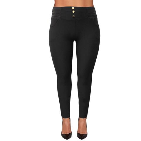 ca62af5f6 Plus size leggings gold buttons - RED60